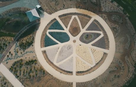 vue aérienne du Biopôle de Léa Nature à La Rochelle en Charente-Maritime