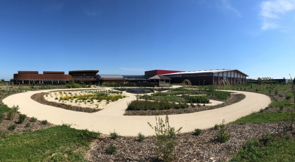 les jardins du BiO'Pôle de Léa à Périgny près de La Rochelle