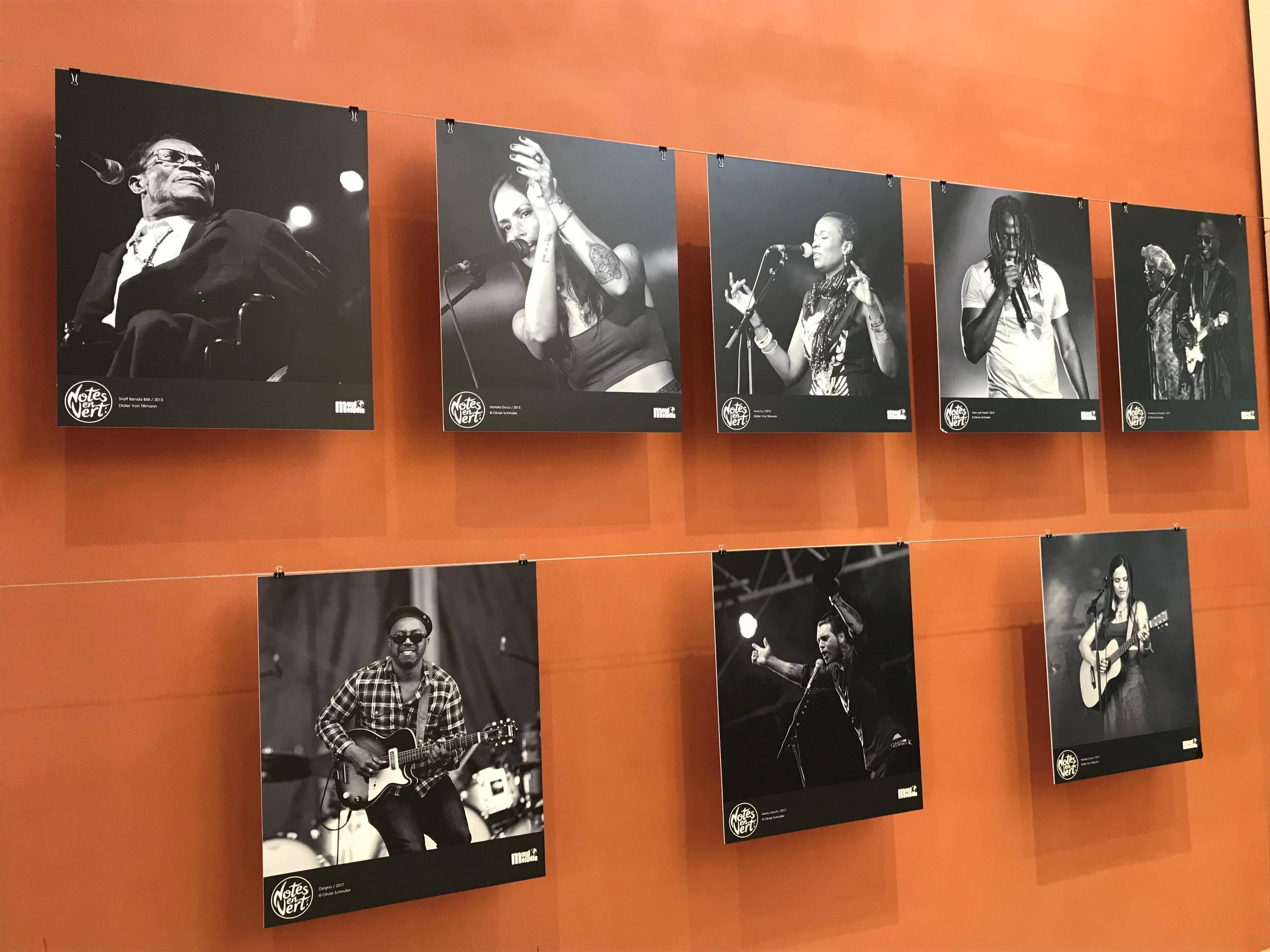 exposition de photos de musiciens et de chanteurs au BiO'Pôle de Léa près de La Rochelle